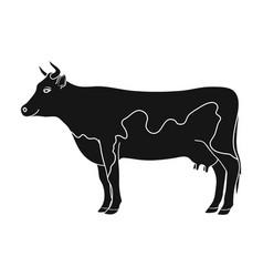 cowanimals single icon in black style vector image