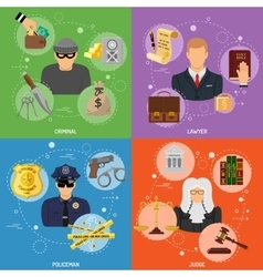 Crime and Punishment Banners vector image vector image