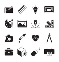 graphic design icons vector image