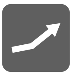 Growth trend flat squared icon vector
