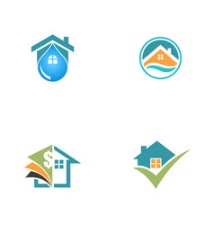 home properties sold logos vector image