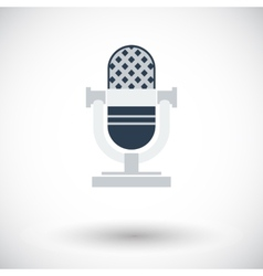 Icon vintage microphone vector image vector image