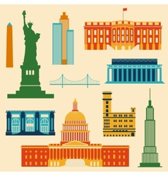 Landmarks of United States of America vector image