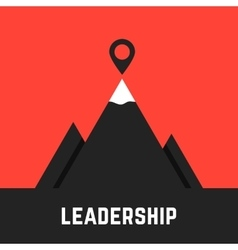 Leadership metaphor with black mountains vector