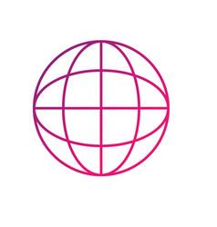 line network global connection digital map vector image vector image