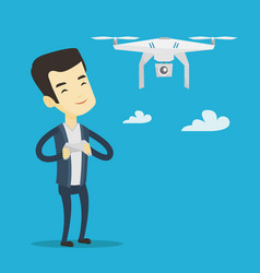 man flying drone vector image