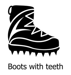 mountaineer shoes icon simple black style vector image