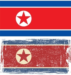 North korea grunge flag vector
