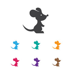 Of zoology symbol on rat icon vector
