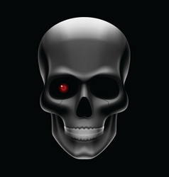one eyed skull vector image vector image