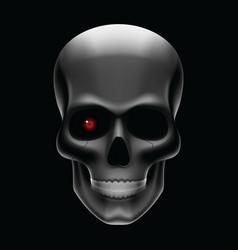 One eyed skull vector