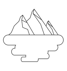 peak mountain snow landscape land scene vector image