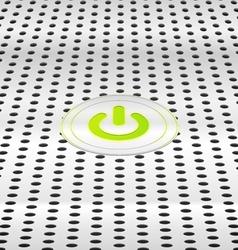 Power green button vector