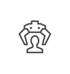Recruiting line icon vector