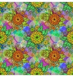 Seamless Tile Floral Pattern vector image