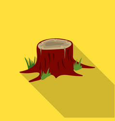 Stump icon in flat style for web vector