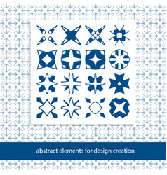stylish creative geometric signs basic form vector image