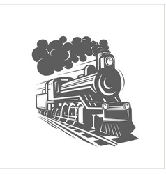 templates with a locomotive vintage train vector image