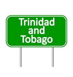 Trinidad and tobago road sign vector