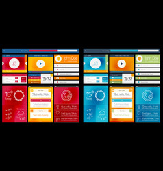 web design scheme of ui vector image