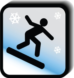 Winter icon -skateboard vector image vector image