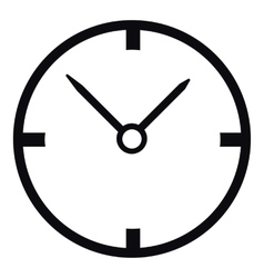 Small wall clock icon simple style vector