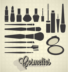Cosmetics silhouettes vector