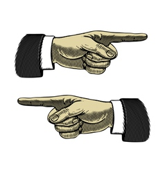 Hand with pointing finger left and right vector
