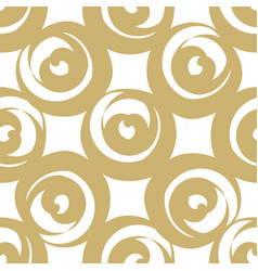 golden round shaped hearts vector image