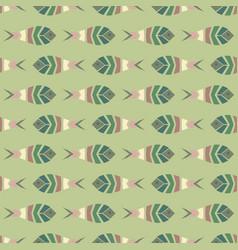 flock of fish mosaic seamless pattern vector image