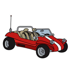 Red beach buggy vector
