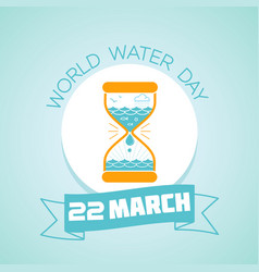 22 march world water day vector