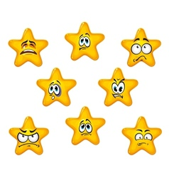 Emotional star icons vector