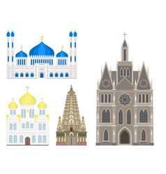 Cathedral church temple traditional building vector