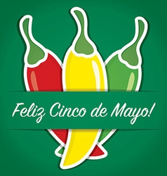 Cinco de mayo card vector