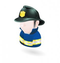 fireman illustration vector image