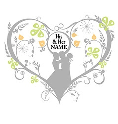Wedding silhouette decorative graphics vector