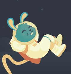 Bunny relaxing in space vector