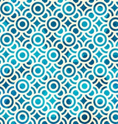 Blue circle seamless pattern with grunge effect vector