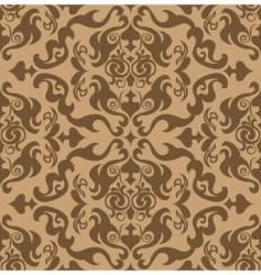damask wallpaper pattern vector image