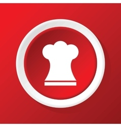 Chef hat icon on red vector