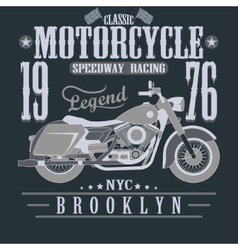 Motorcycle racing typography graphics brooklyn vector