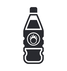 Dangerous bottle icon vector
