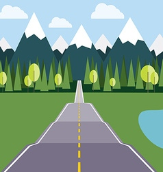 Road to Mountains flat vector image
