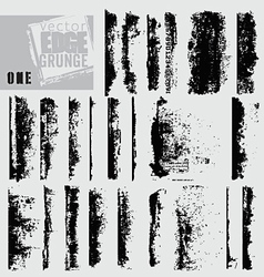 edge grunge one vector image