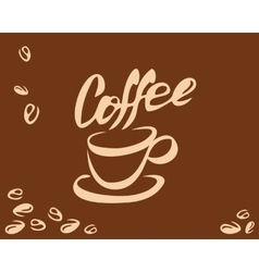 Coffee cup and bean vector