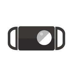 Icon cigarettes ashtray design idea and smoke vector image