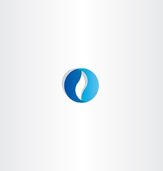 Abstract blue circle business logo sign vector