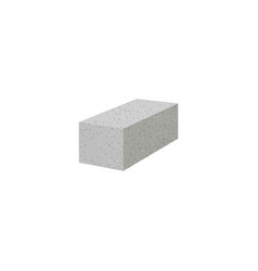 Aerated autoclaved concrete block isolated foam vector