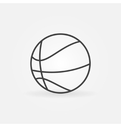 Basketball icon or logo vector image